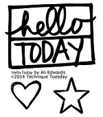 Technique Tuesday - Clear Stamp - by Ali Edwards - Hello Today