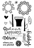 Technique Tuesday - Clear Stamp - Grow Happy