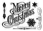 Technique Tuesday - Clear Stamp - Merry Christmas