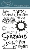 Technique Tuesday - Clear Stamp - Hello Sunshine