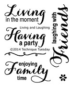 Technique Tuesday Clear Stamp - Living and Laughing
