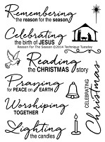 Technique Tuesday Clear Stamp - Reason for the Season