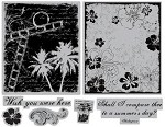 TPC Studio-Cling Stamp (large set)-Summer Collage