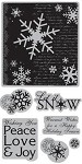 TPC Studio-Cling Stamp-Winter Collage