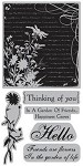 TPC Studio-Cling Stamp-Secret Garden Collage