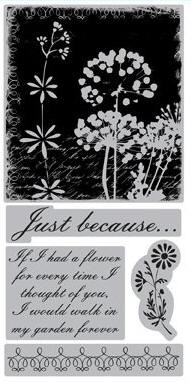 TPC Studio-Cling Stamp-Floral Collage
