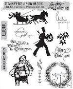 Stamper's Anonymous / Tim Holtz - Cling Mounted Rubber Stamp Set - Mini Holidays 5