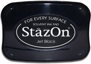 Tsukineko Staz-On Ink Pad   Jet Black