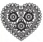 We-R-Memory Keepers - Crazy For You - Clear Stamp - Heart Doily