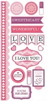 We-R-Memory Keepers - Crazy For You - Embossed Stickers