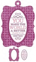 We-R-Memory Keepers - Crazy For You - Embossed Frame - Better Place
