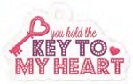 We-R-Memory Keepers - Crazy For You - Embossed Die Cuts - Key To My Heart