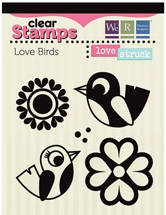 We-R-Memory Keepers Love Struck - Clear Stamps  - Love Birds