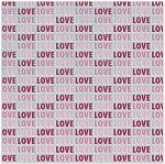 We-R-Memory Keepers Love Struck - Glitter Cardstock - Love
