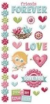 We-R-Memory Keepers Love Struck - Embossed Stickers
