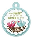 We-R-Memory Keepers Love Struck - Embossed Tag - How Sweet