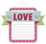 We-R-Memory Keepers Love Struck - Embossed Tag - Love