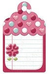 We-R-Memory Keepers Love Struck - Embossed Tag - Journal Tag