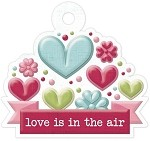 We-R-Memory Keepers Love Struck - Embossed Tag - Love Is In The Air