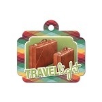 We-R-Memory - Travel Light - Embossed Tag - Travel Light