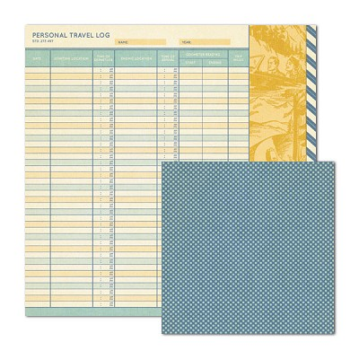 We-R-Memory - Cardstock - Travel Light - Travel Log