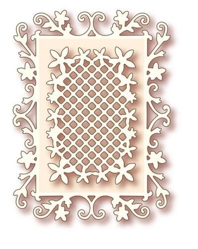 wild rose studio die floral frame. Black Bedroom Furniture Sets. Home Design Ideas