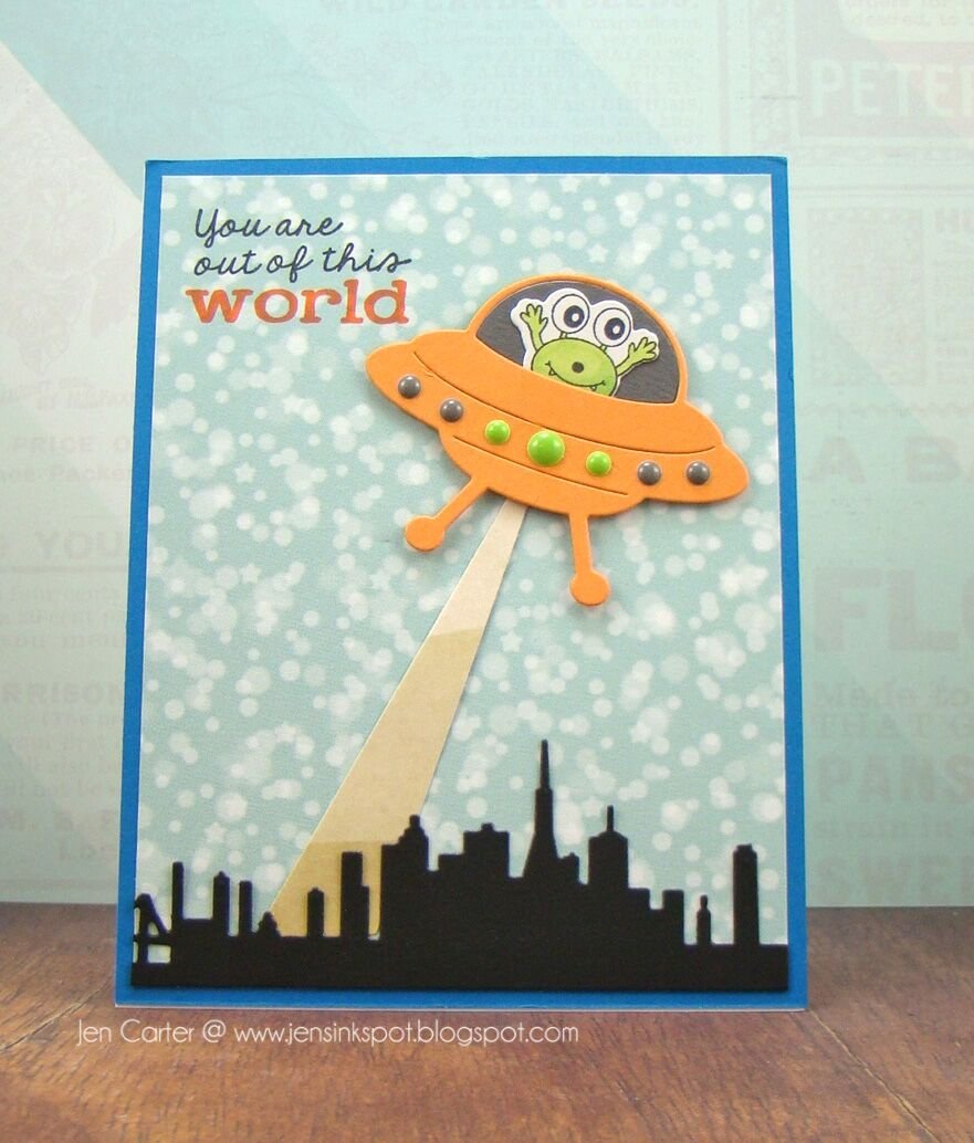 Frantic Stamper Clear Stamp Set Sentiments From Space