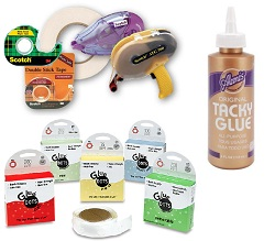 Adhesives (tape, glue)