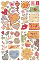 Basic Grey Sugar Rush - Chipboard Stickers Shapes :)