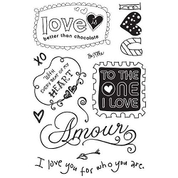 Basic Grey Sugar Rush - Clear Stamp - Amour :)