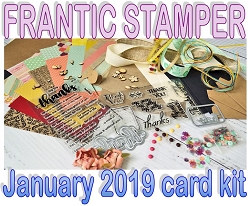 Monthly Card Kit - January 2019 - Thanks Theme!