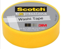 3M Scotch - Expressions Washi Tape - 15mm x 10m - Orange