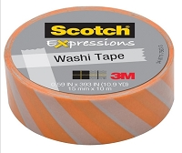 3M Scotch - Expressions Washi Tape - 15mm x 10m - Diagonal Stripe