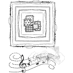 49 and Market - Clear Stamp - Gabi's Square Stitch Stamp Set