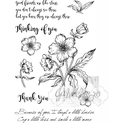 49 and Market - Clear Stamp - Gabi's Hibiscus Stamp Set