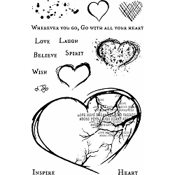 49 and Market - Clear Stamp - Georgie's With All Your Heart Stamp Set