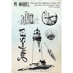 49 and Market - Clear Stamp - Sand & Sea Lighthouse Set