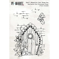 49 and Market - Clear Stamp - Cottage Life Gabi's Whimsical Door Stamp Set