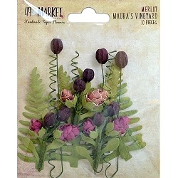 49 and Market - Maura's Vineyard Flowers - Merlot