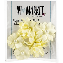 49 and Market - Mini Flowers - Cream