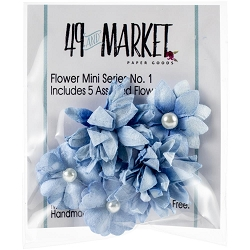 49 and Market - Mini Flowers - Cobalt