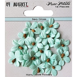 49 and Market - Pixie Petals Flowers - Sea Glass