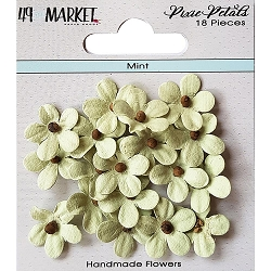 49 and Market - Pixie Petals Flowers - Mint