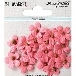 49 and Market - Pixie Petals Flowers - Flamingo