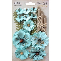 49 and Market - Paper Flowers - Blossom Blends Sea Breeze