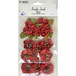 49 and Market - Paper Flowers - Garden Seeds Poppy