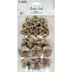 49 and Market - Paper Flowers - Garden Seeds Linen