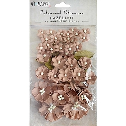 49 and Market - Paper Flowers - Botanical Potpourri Hazelnut