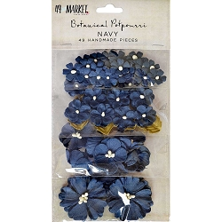 49 and Market - Paper Flowers - Botanical Potpourri Navy