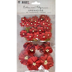 49 and Market - Paper Flowers - Botanical Potpourri Grenadine